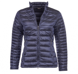 Clyde Short Baffle Quilted Jacket Navy Clyde Short Baffle Quilted Jacket Navy