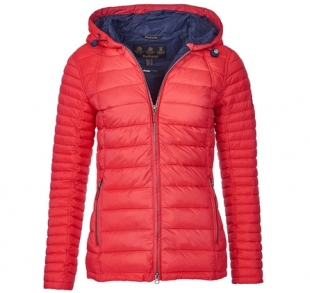 Landry Baffle Quilted Jacket Red Landry Baffle Quilted Jacket Red