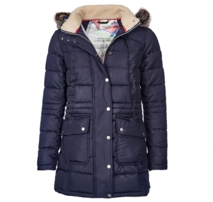 Landry Long Quilted Jacket Navy Landry Long Quilted Jacket Navy