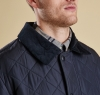 Bardon Quilted Jacket Navy - 2
