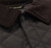 Eskdale Quilted Jacket Dark Brown - 1