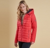 Landry Baffle Quilted Jacket Red - 5
