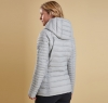 Landry Baffle Quilted Jacket Silver Ice - 1