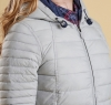 Landry Baffle Quilted Jacket Silver Ice - 2