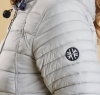 Landry Baffle Quilted Jacket Silver Ice - 3