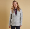 Landry Baffle Quilted Jacket Silver Ice - 4