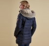 Landry Long Quilted Jacket Navy - 1