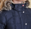 Landry Long Quilted Jacket Navy - 2