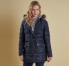 Landry Long Quilted Jacket Navy - 4