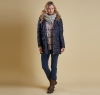Landry Long Quilted Jacket Navy - 5